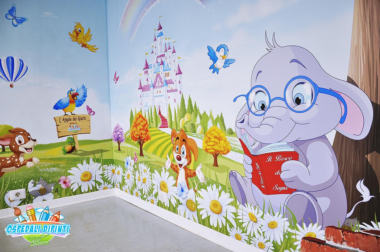 Sala Giochi Per Bambini : L angolo dei giochi per la sala d attesa ospedali dipinti