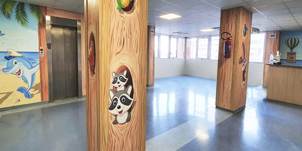 pronto-neuropsichiatria-infantile-isola-del-sorriso-messina-ospedali-dipinti