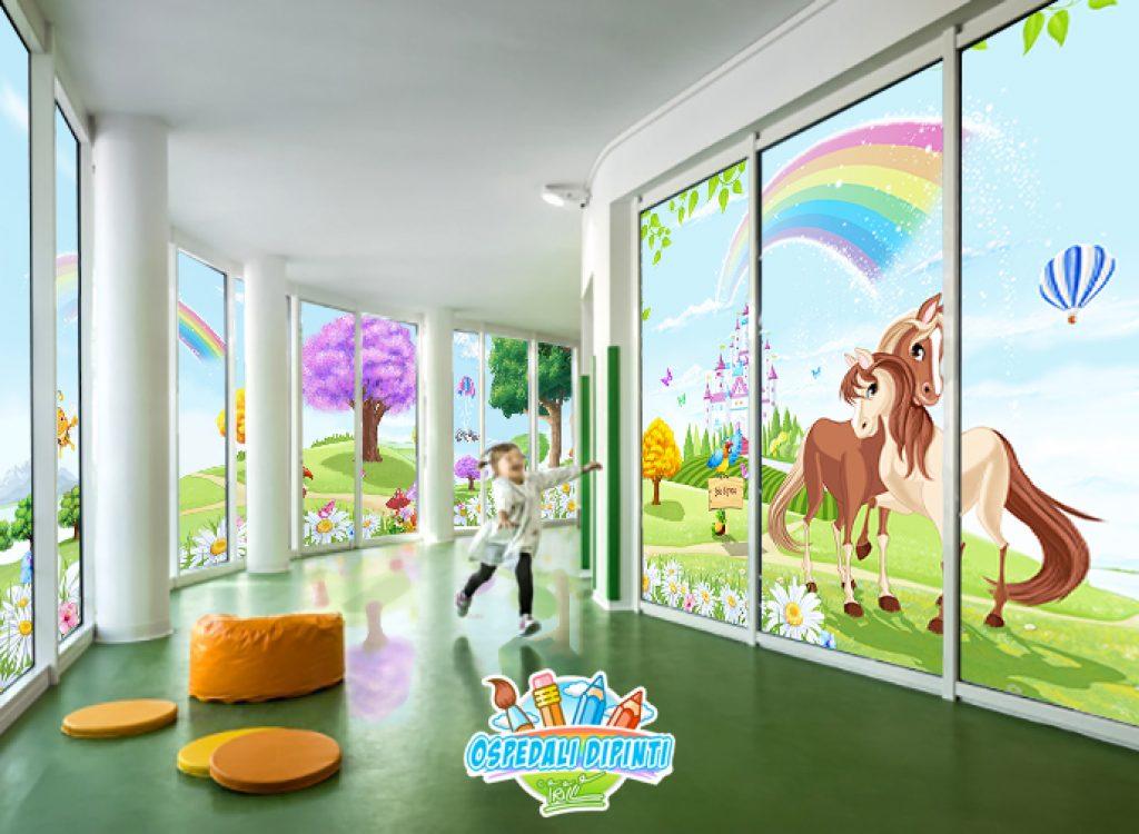 vetrata_corridoio_ospedale_uffici_irilli_murales